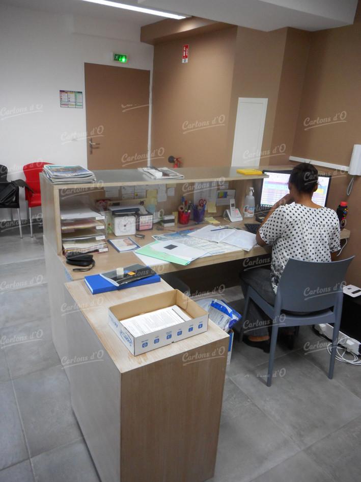 Bureau comptoir + Rangements