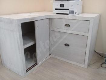 Meuble de rangement avec portes coulissantes et tiroirs