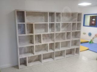 Bibliothèque 2800mm de L par 2000 mm de H tout en carton