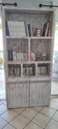 Bibliothèque 2200 mm/1050 couleur cérusé nuancé